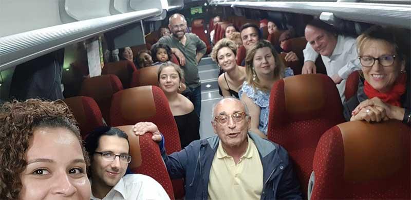 En el autobús hacia Granada.