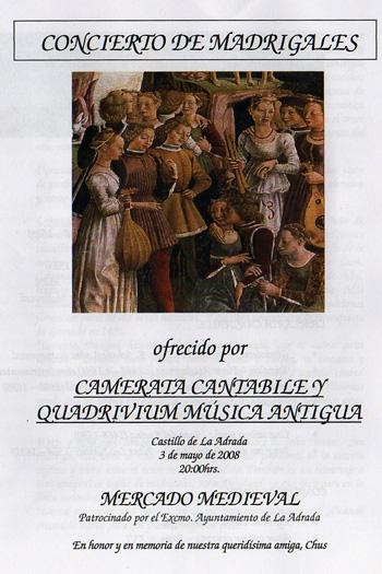 Se celebró en La Adrada, el tradicional concierto de Madrigales